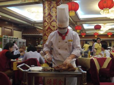 Peking duck served at Quanjude restaurant