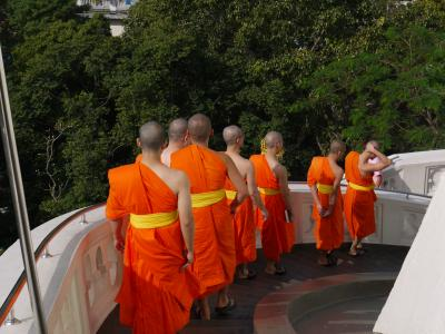 Monks at Wat Saket