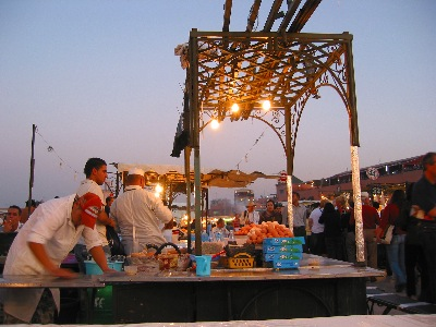 BBQ booth on the Djeema el-Fna