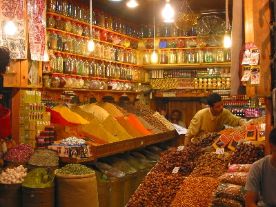 Spice vendor in the souq